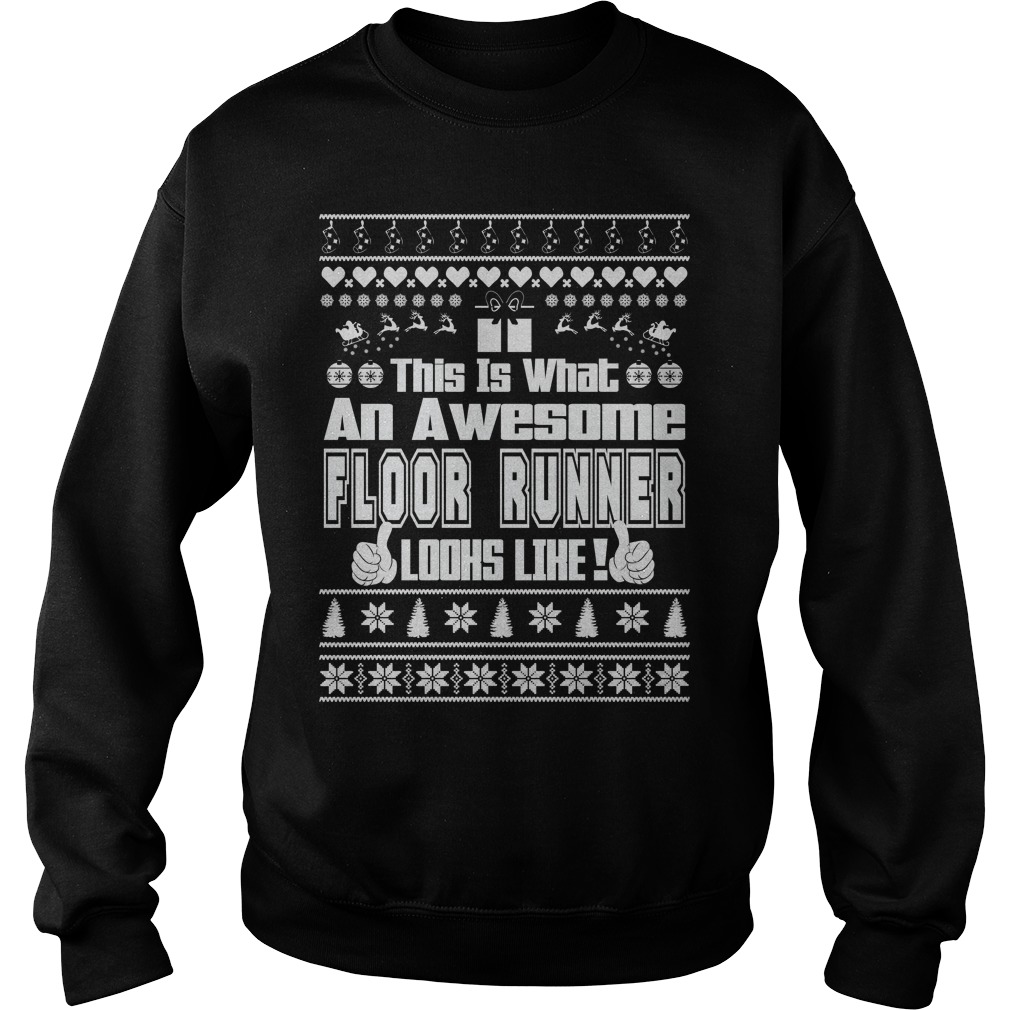This is what an awesome Floor Runner Ugly Christmas sweater