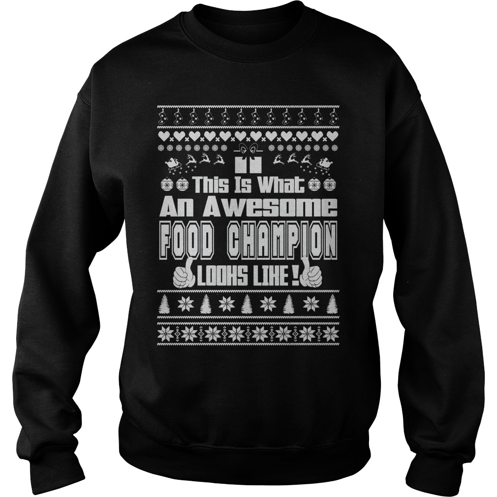 This is what an Awesome Food Champion sweater