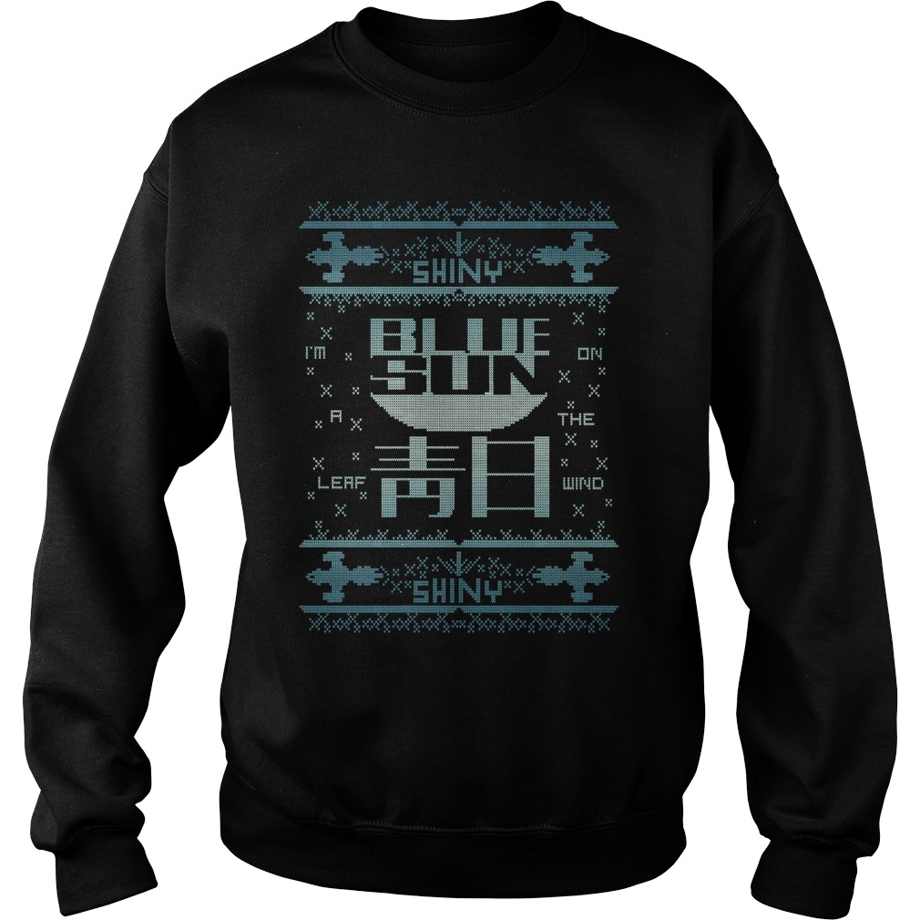 Blue sun ugly christmas variant sweater