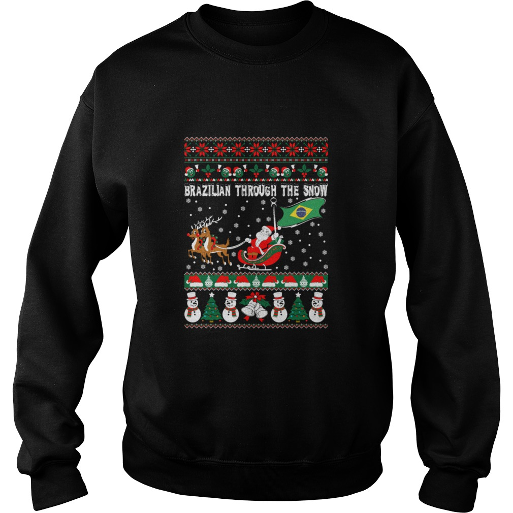 Brazilian Through The Snow Christmas Ugly sweater
