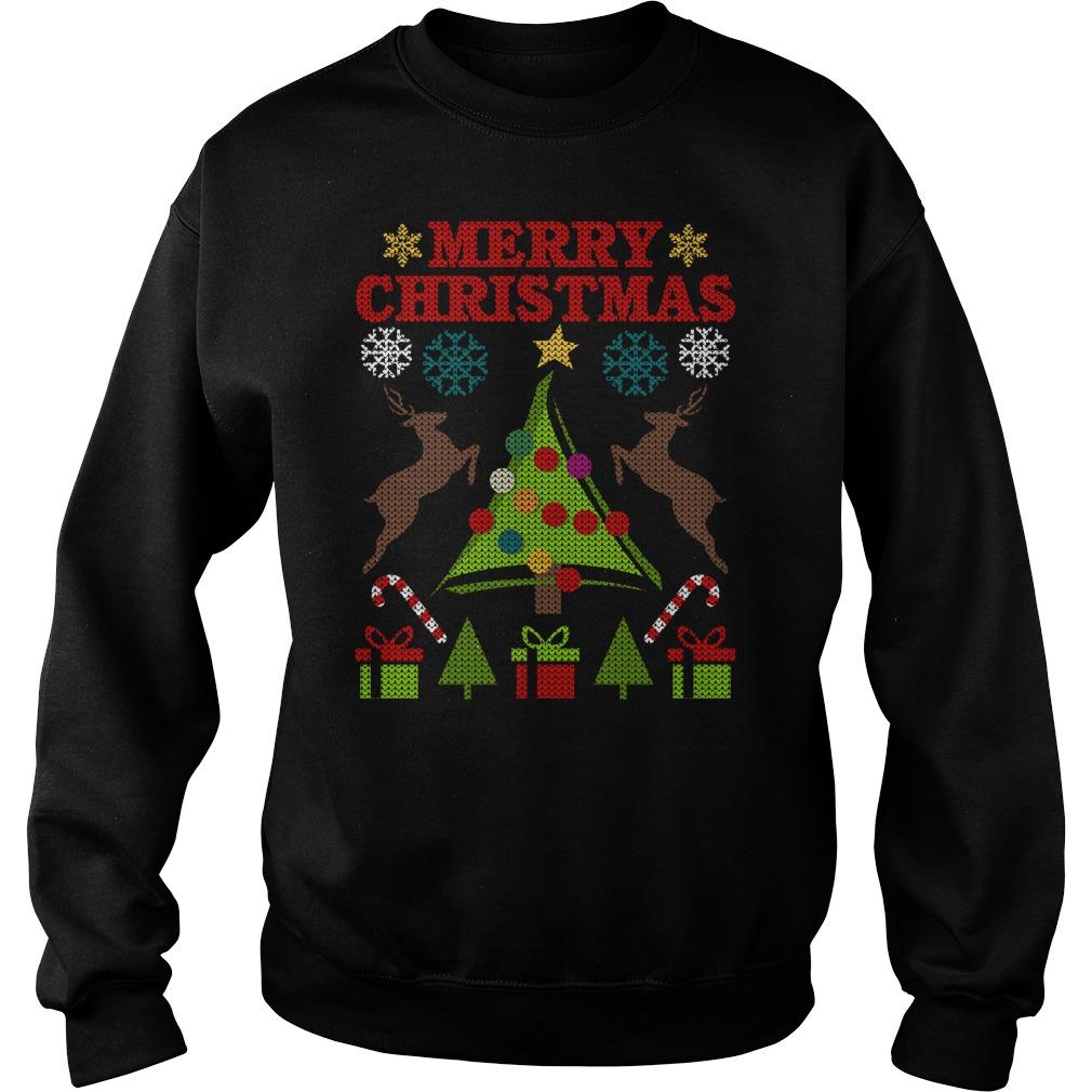 Festive Tree Merry Christmas sweater