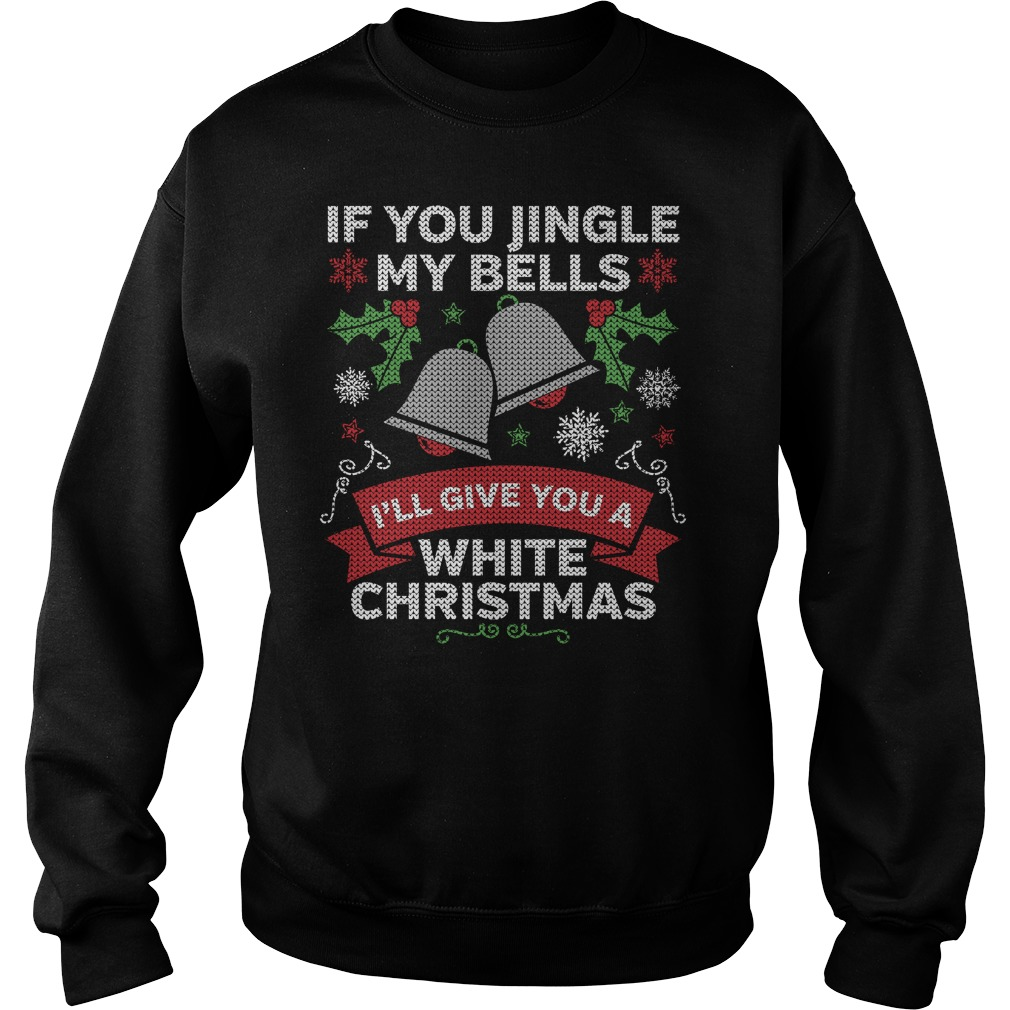 Jingle my Bells White Christmas sweater