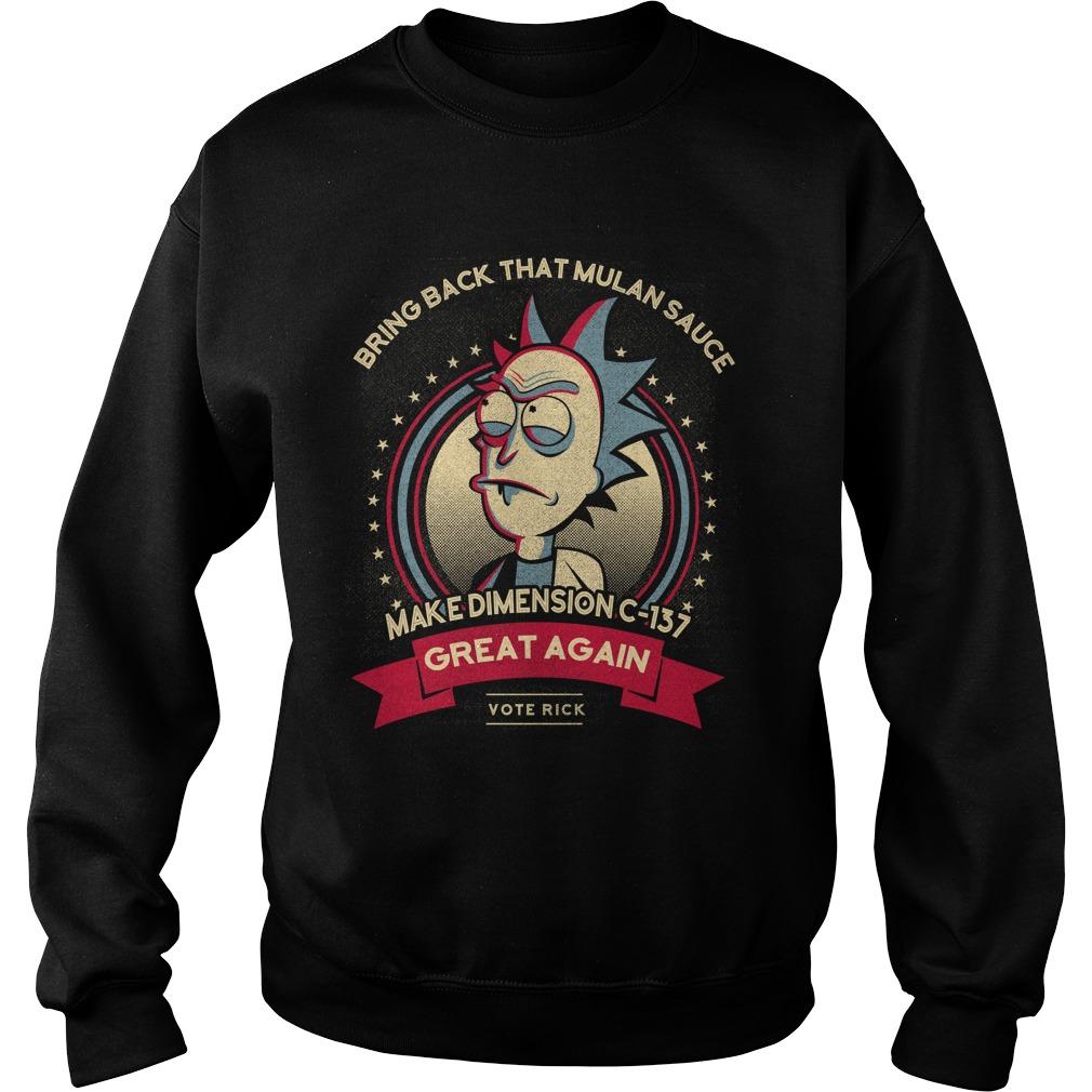 Make dimension C-137 great again Sweater