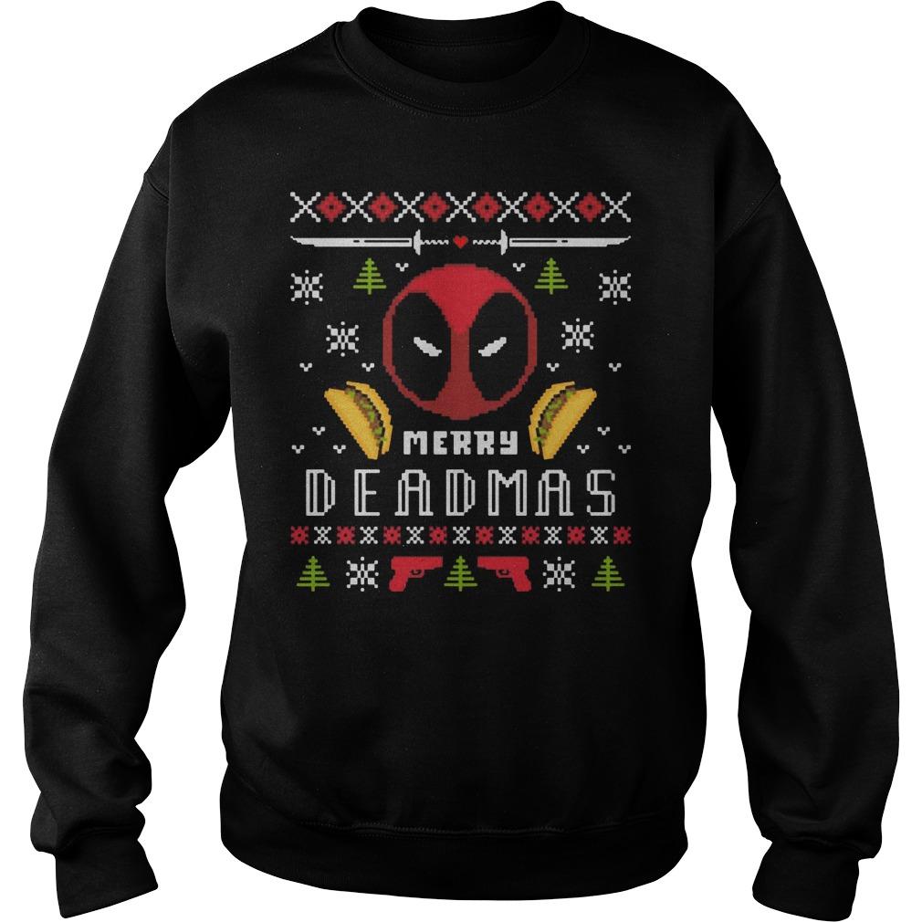 Merry Deadmas Deadpool sweater