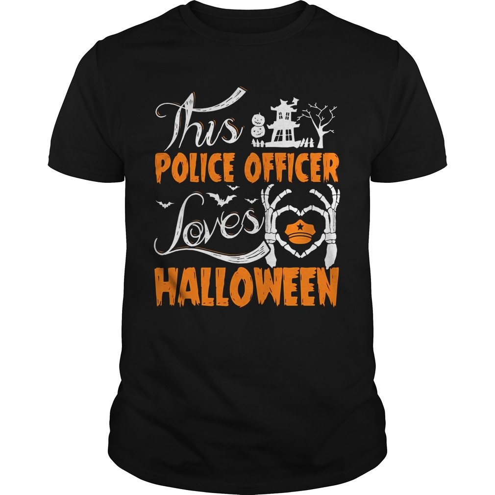 This Police Officer Loves Halloween Hoodie