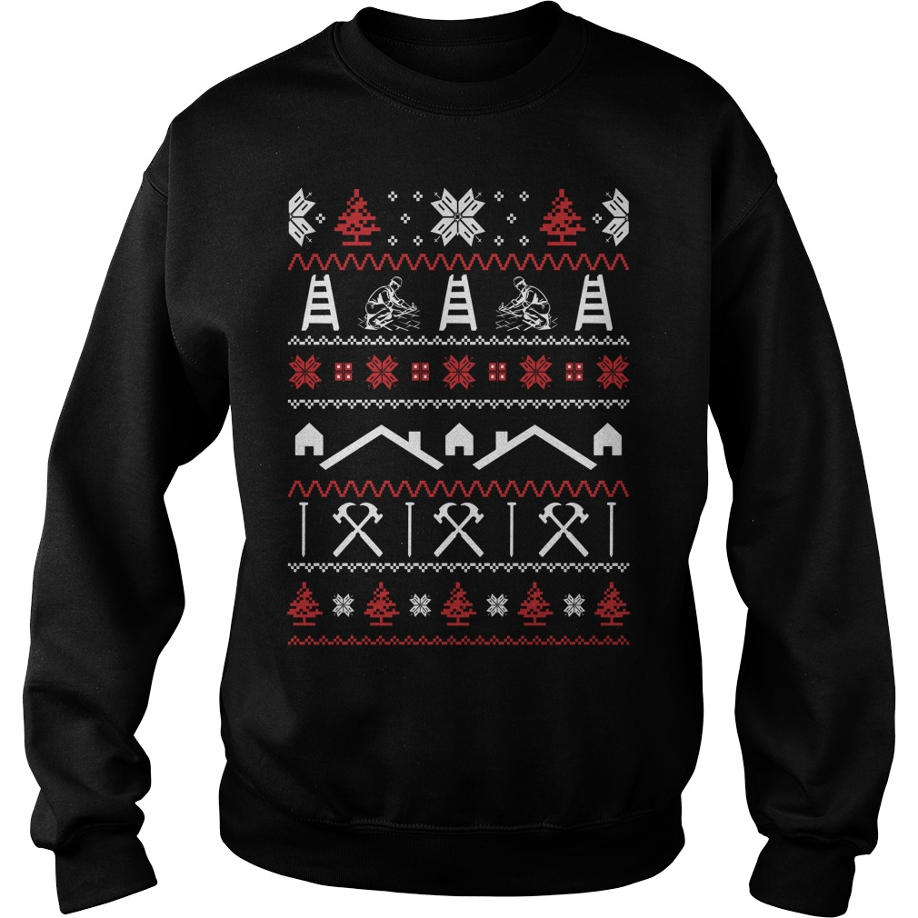 Roofer Ugly Christmas sweater