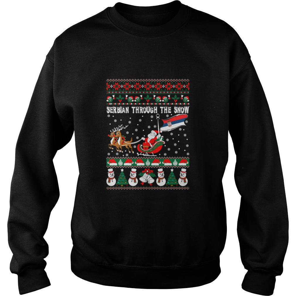 Serbian Through The Snow Christmas Ugly sweater