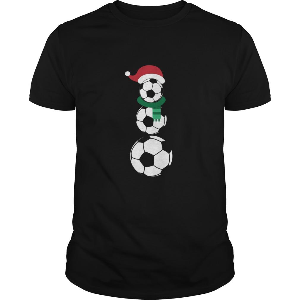 Soccer snowman T-shirt