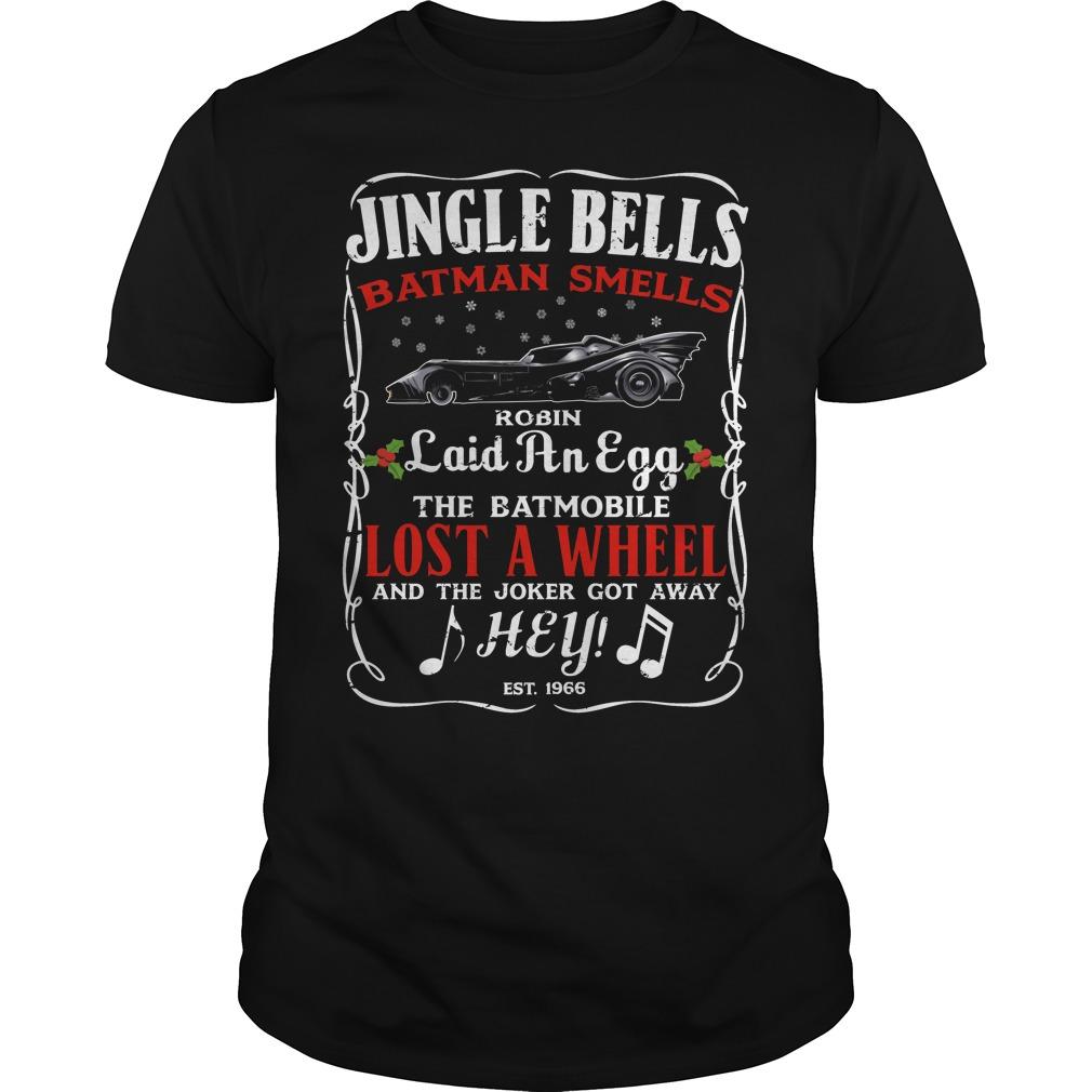 Stank ride Christmas jingle bells Batman smells shirt