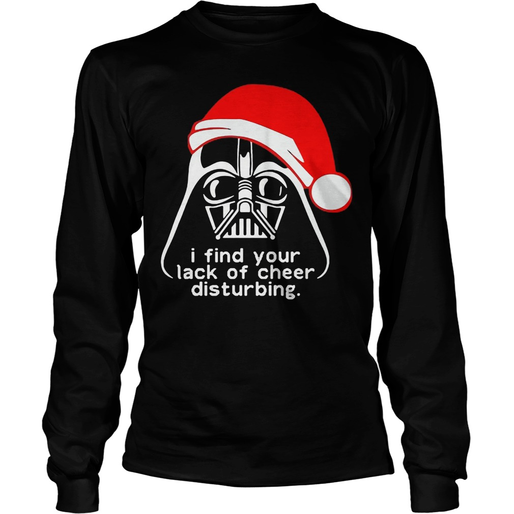 star wars lack of cheer disturbing unisex knitted christmas longsleeve tee