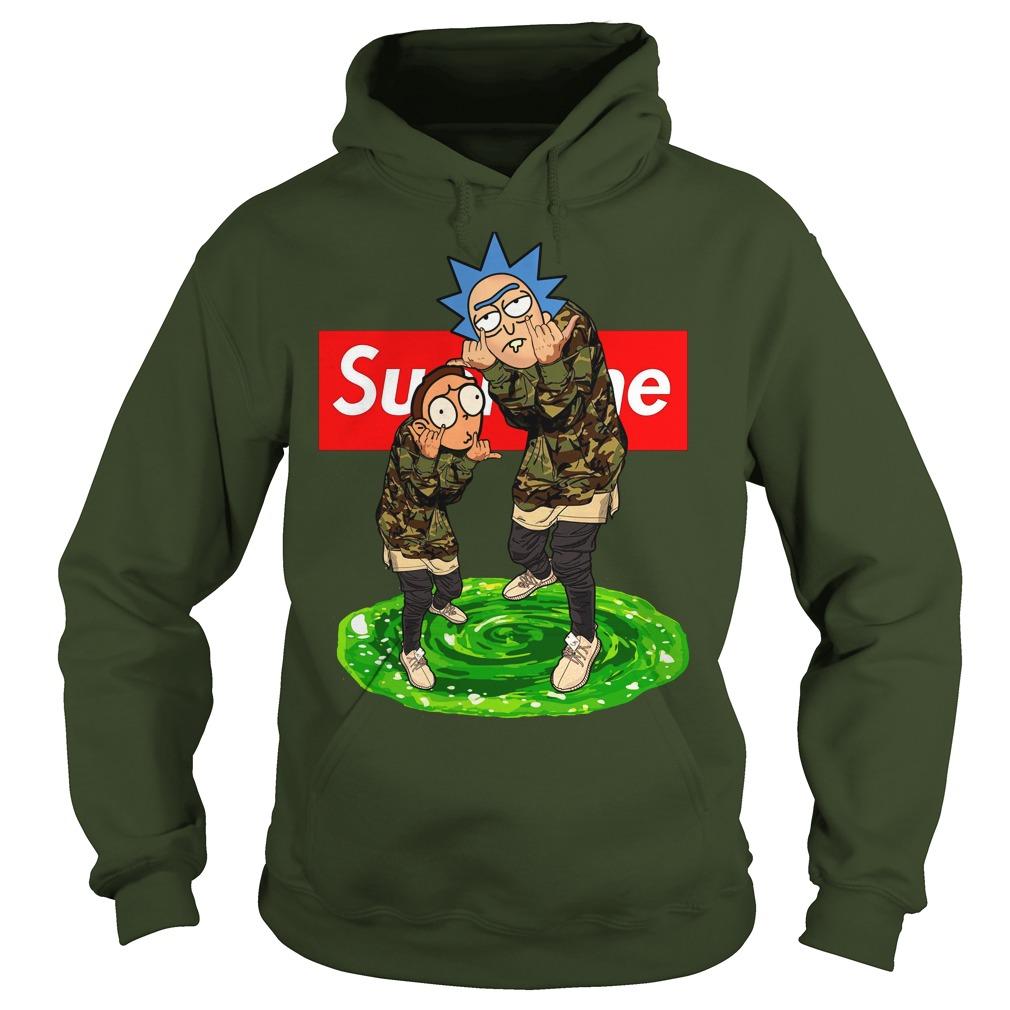 2018 newSupreme Rick and Morty hoodie