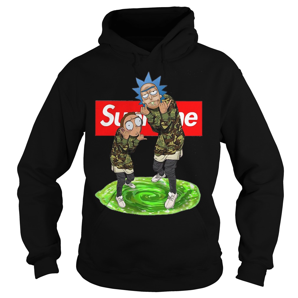 Official Supreme Rick and Morty hoodie