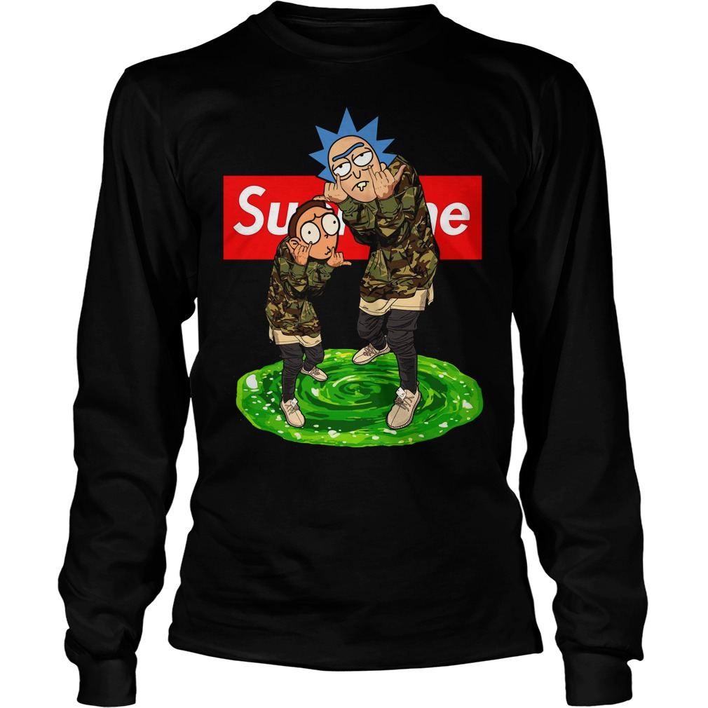 Official Supreme Rick and Morty Long Sleeve