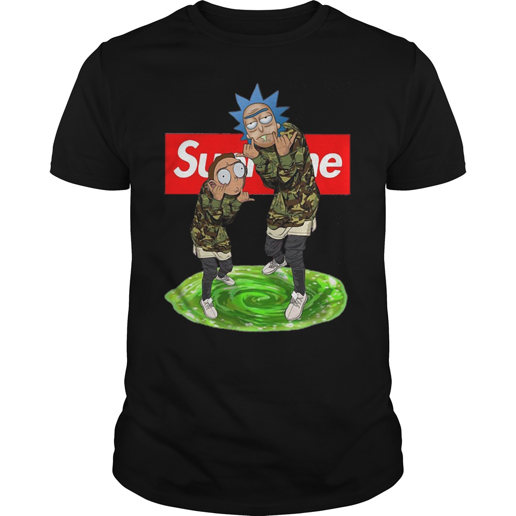 Supreme rick and morty t-shirt