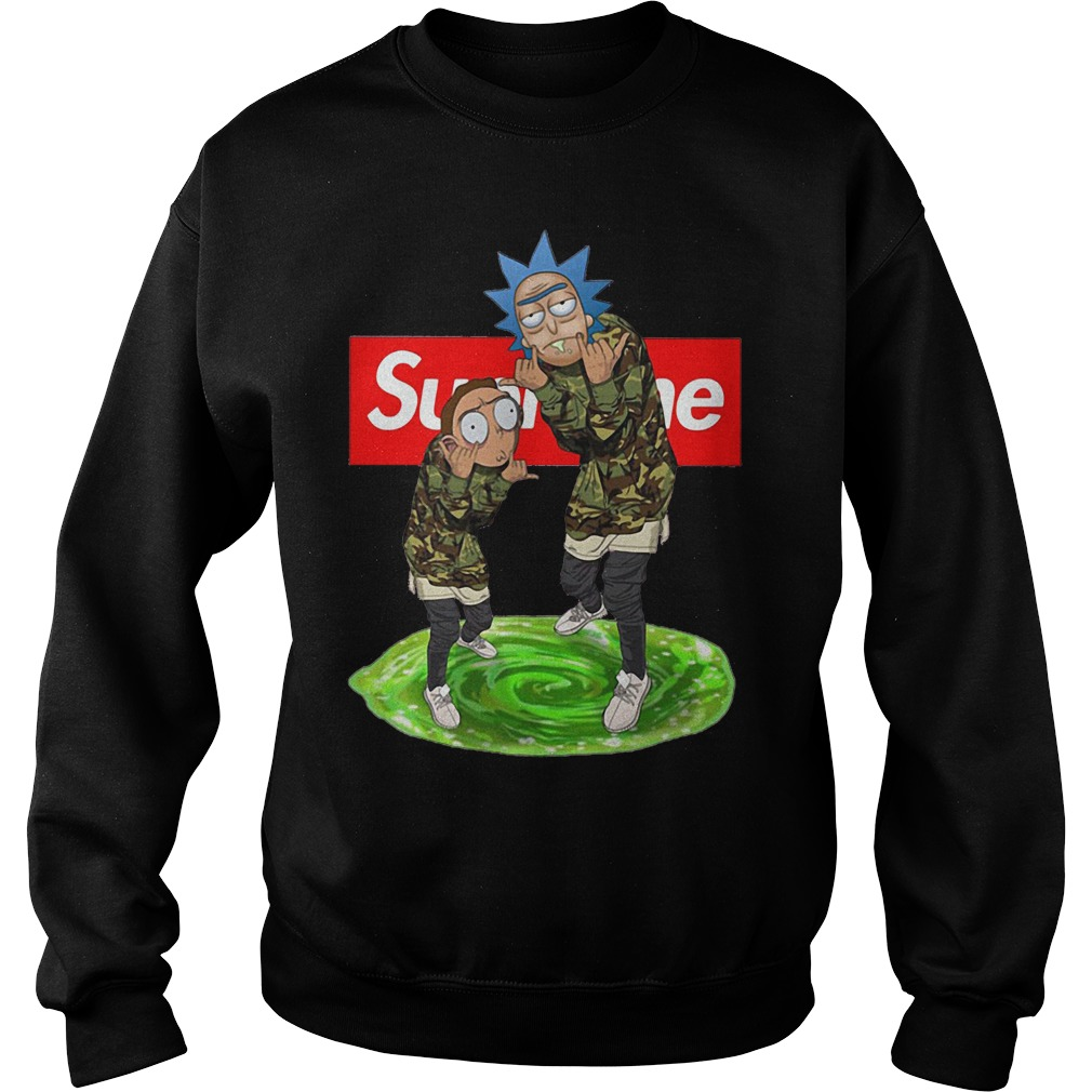 Supreme rick and morty Sweatshirt
