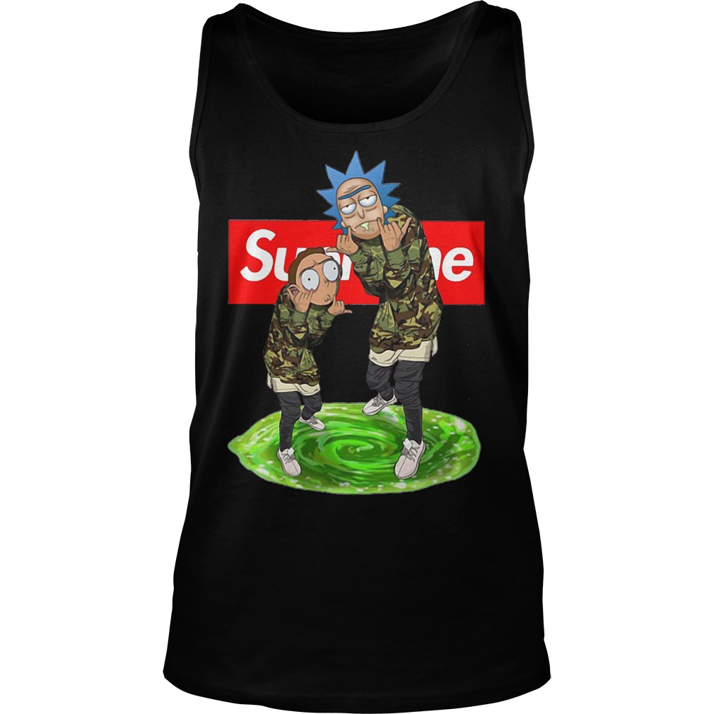Supreme rick and morty Tank Top