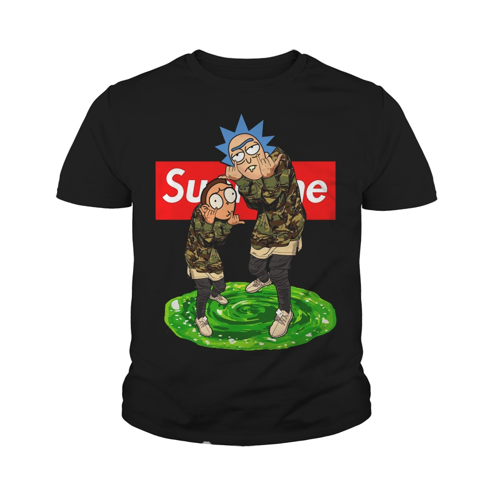 Official Supreme Rick and Morty Youth Tee