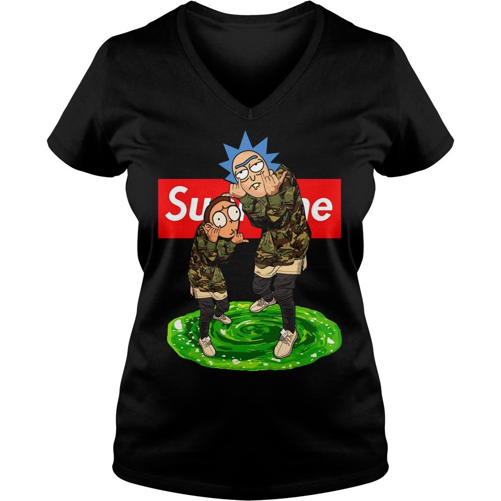 Official Supreme Rick and Morty V-neck t-shirt