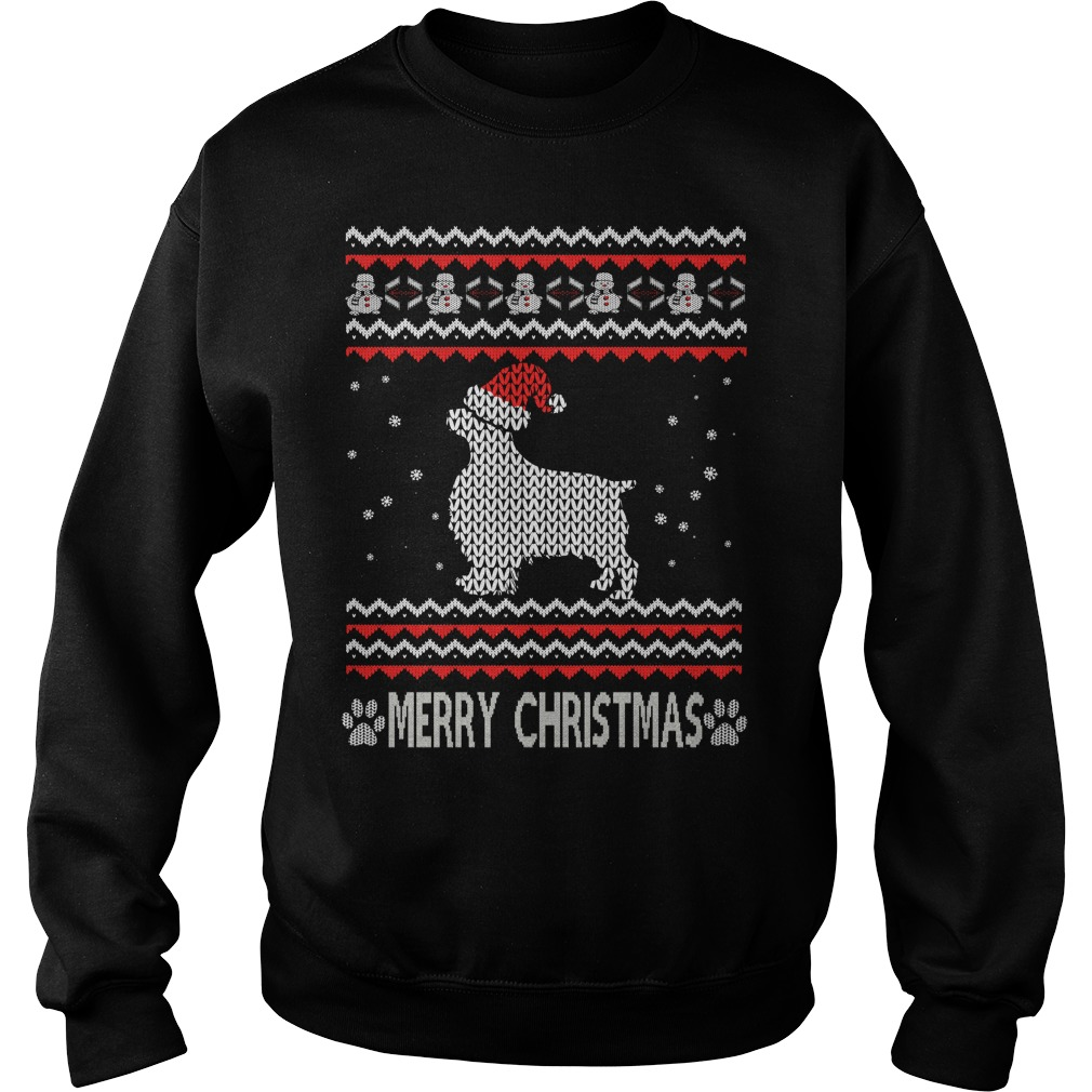 Ugly Christmas English Springer Spaniel sweater