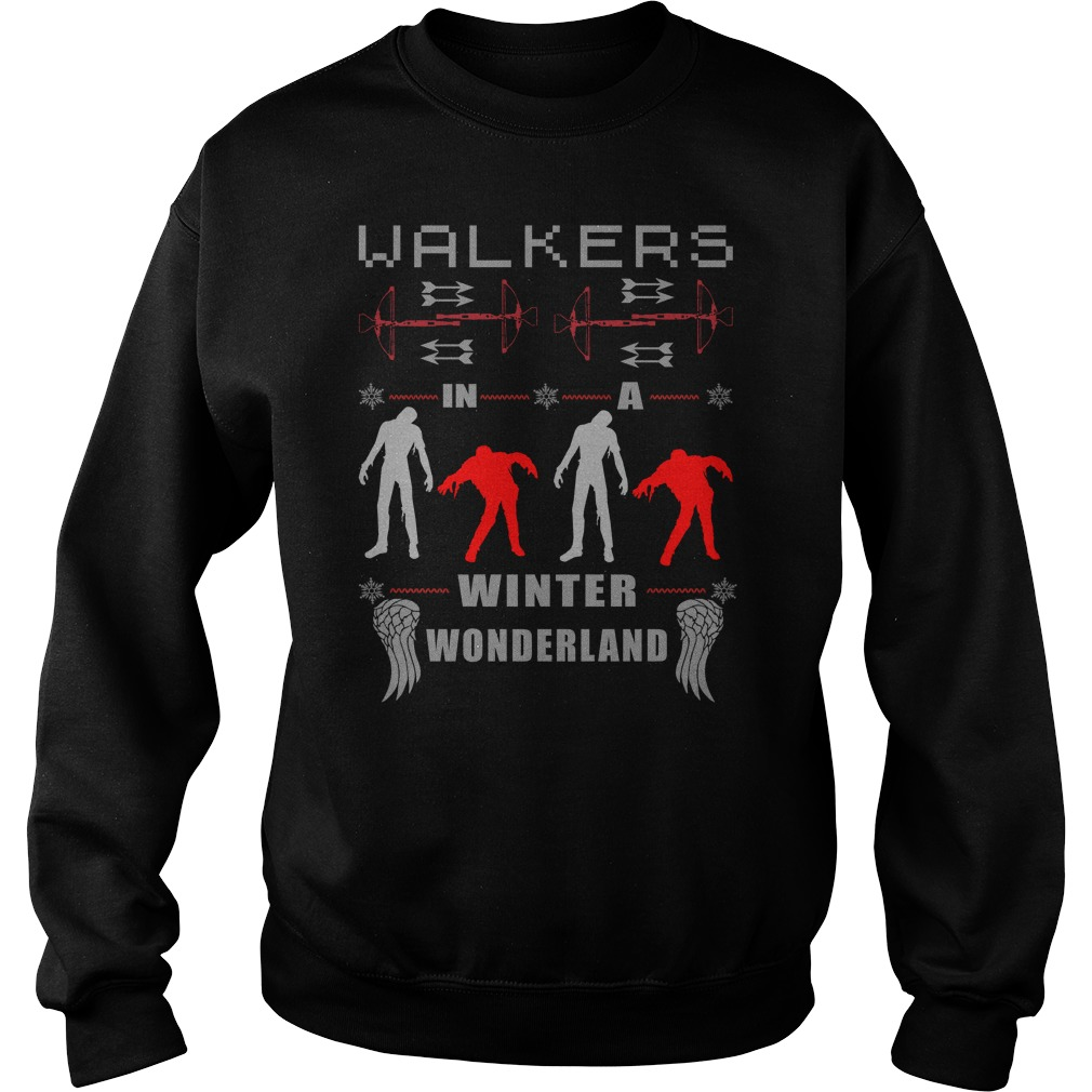 Walkers In A Winter Wonderland Ugly Christmas sweater