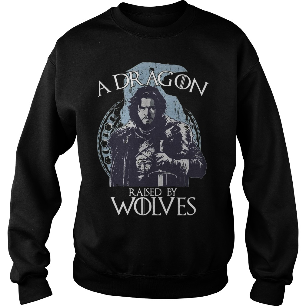 A Dragon raised by wolves Sweater