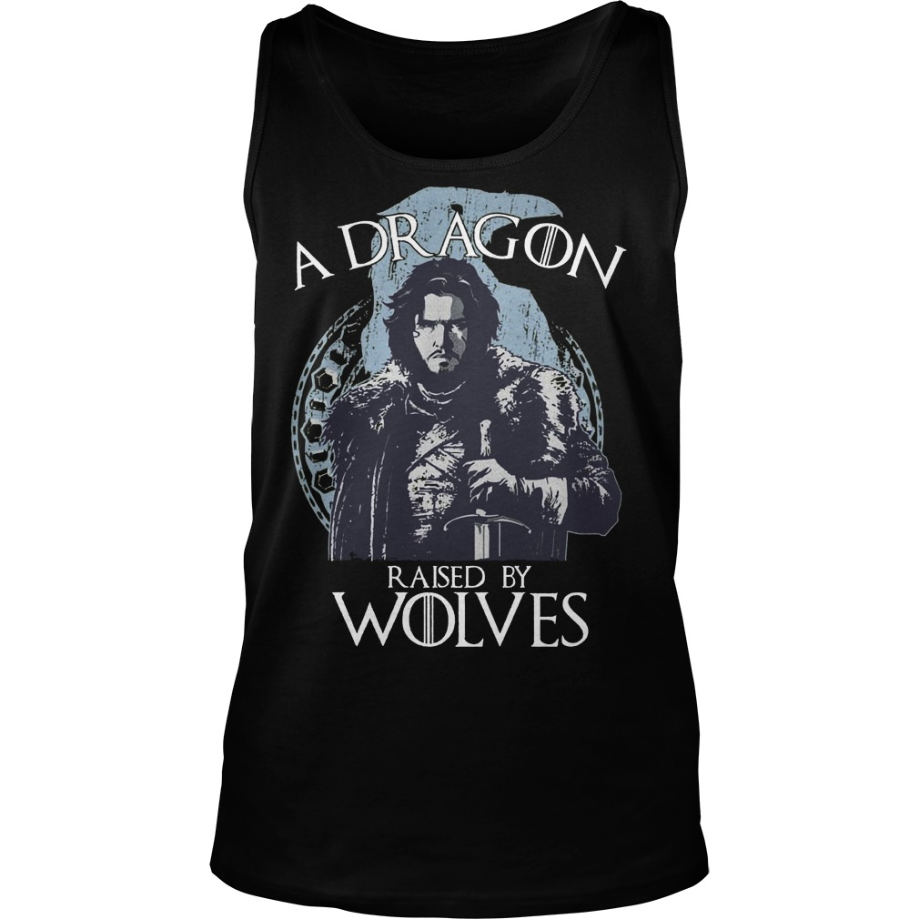 A Dragon raised by wolves Tank top