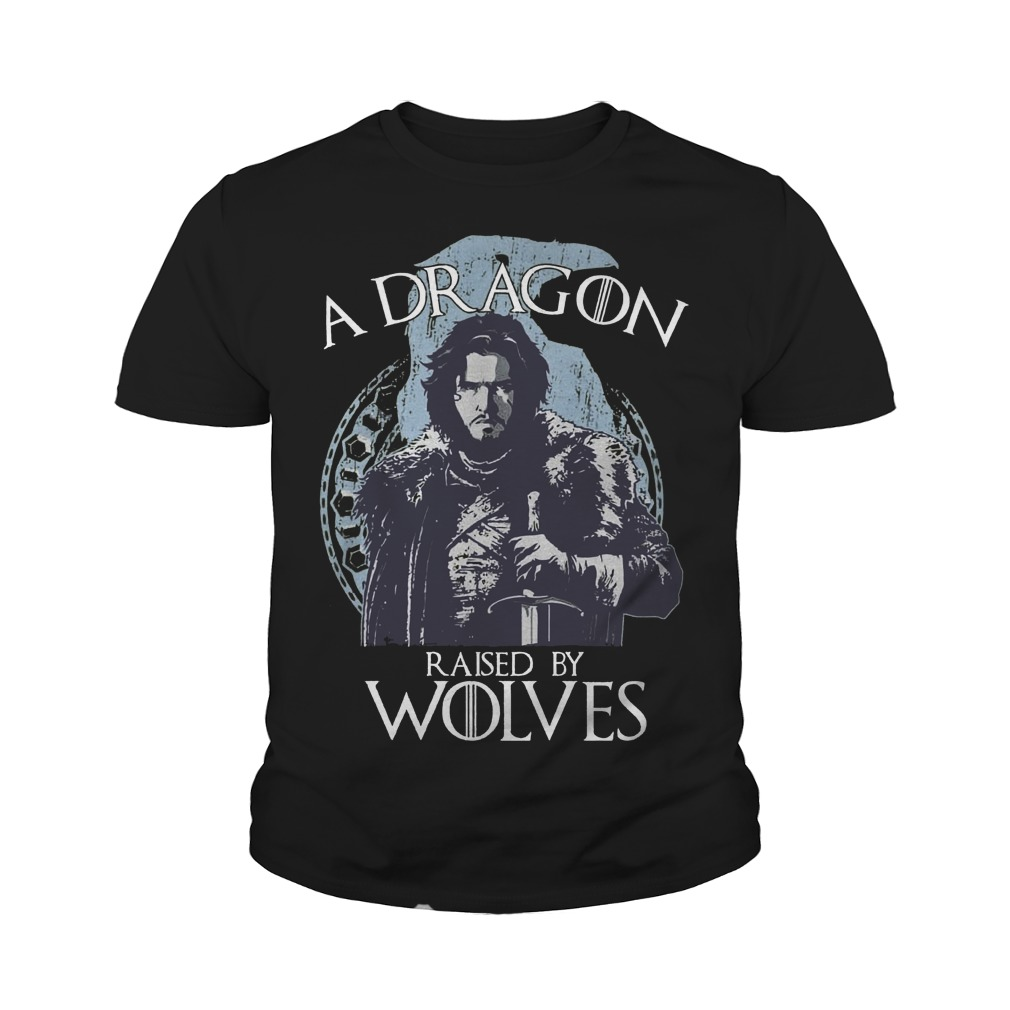 A Dragon raised by wolves Youth tee