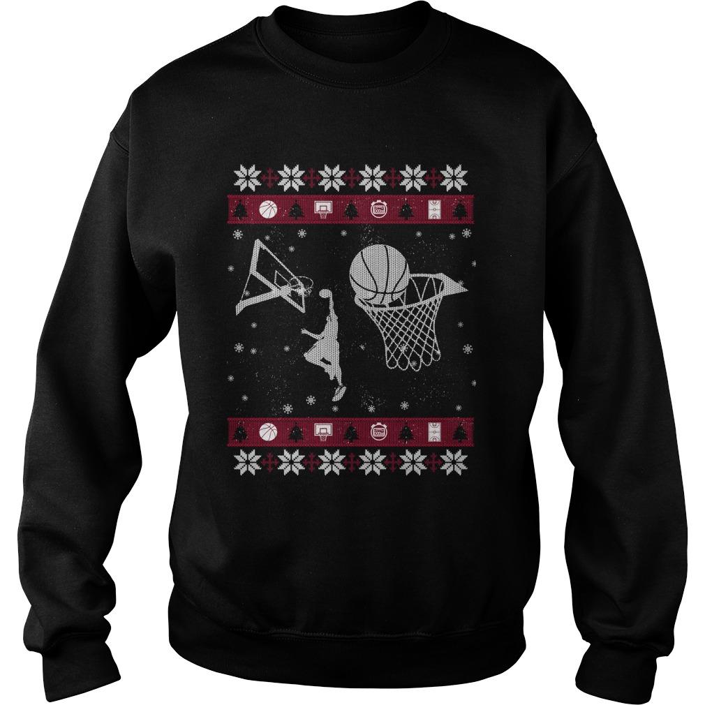Basketball ugly Christmas sweater
