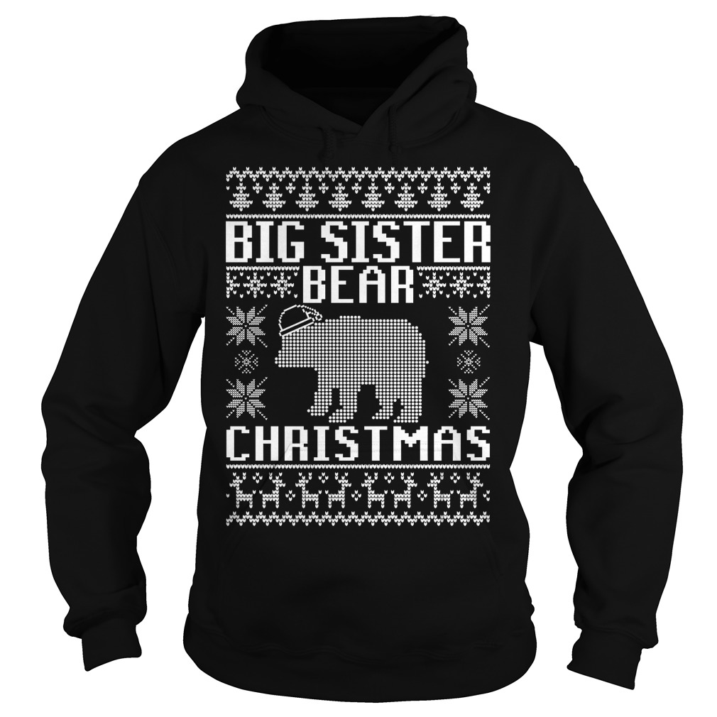 Big sister bear ugly Christmas Hoodie