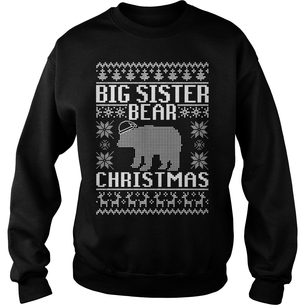 Big sister bear ugly Christmas sweater