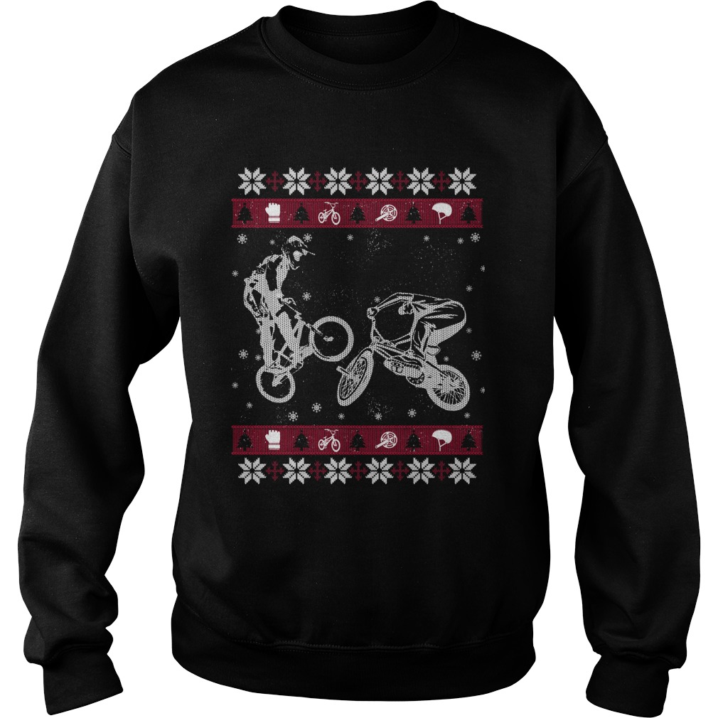 BMX ugly Christmas sweater