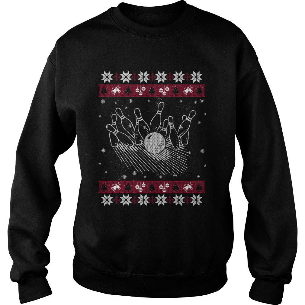 Bowling ugly Christmas sweater