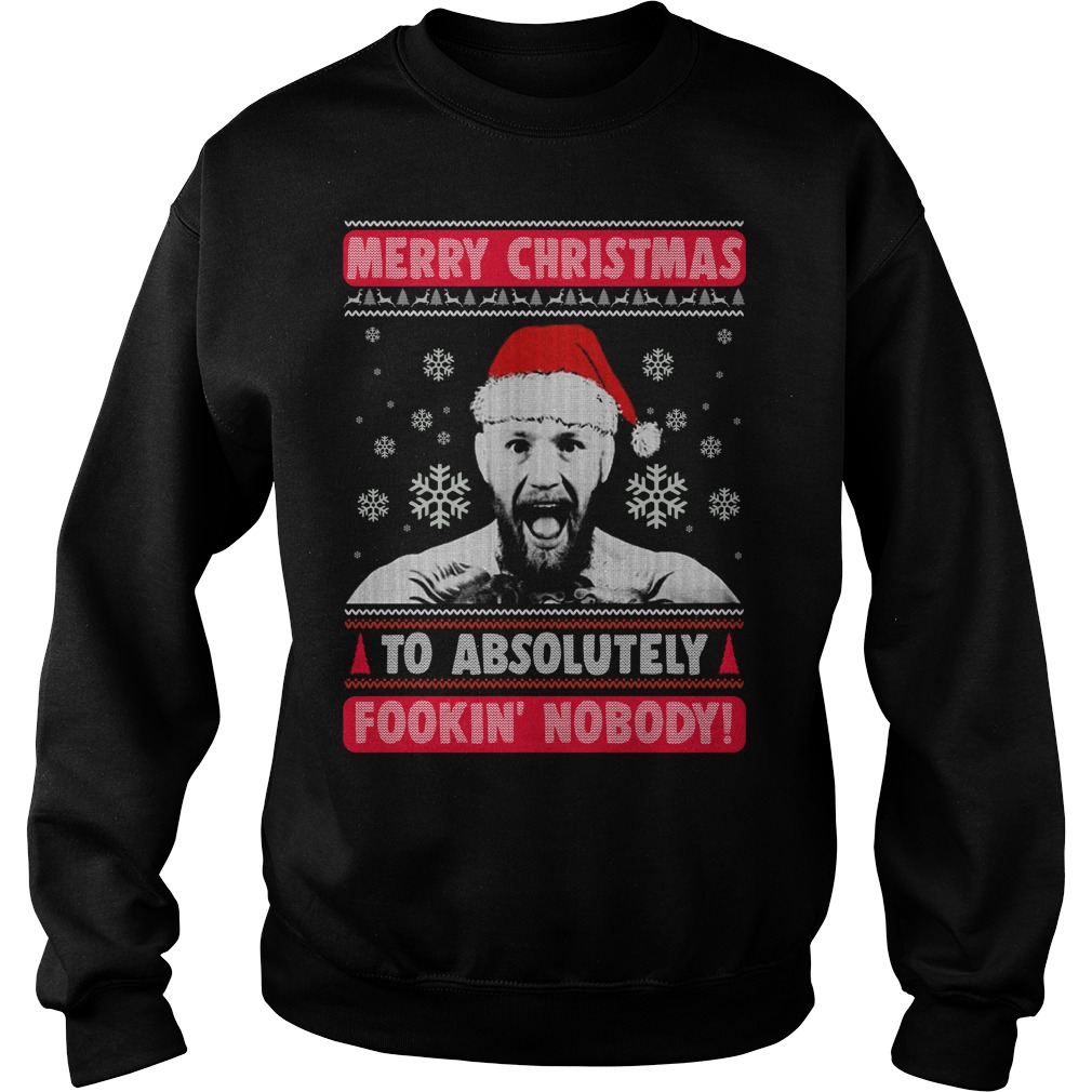Connor gregor: Merry Christmas to absolutely nobody ugly sweater
