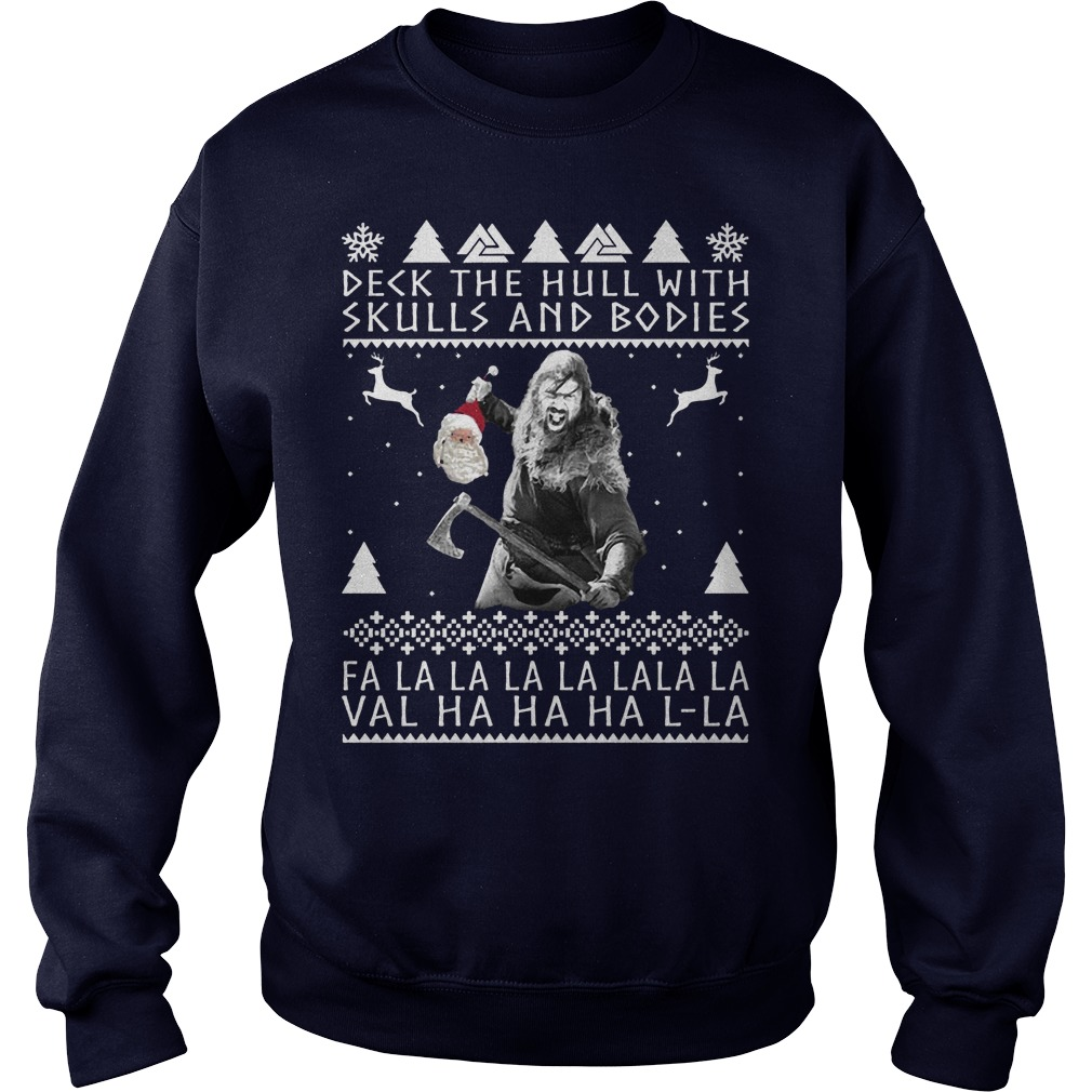 Deck the Hull with skulls and bodies Christmas sweater