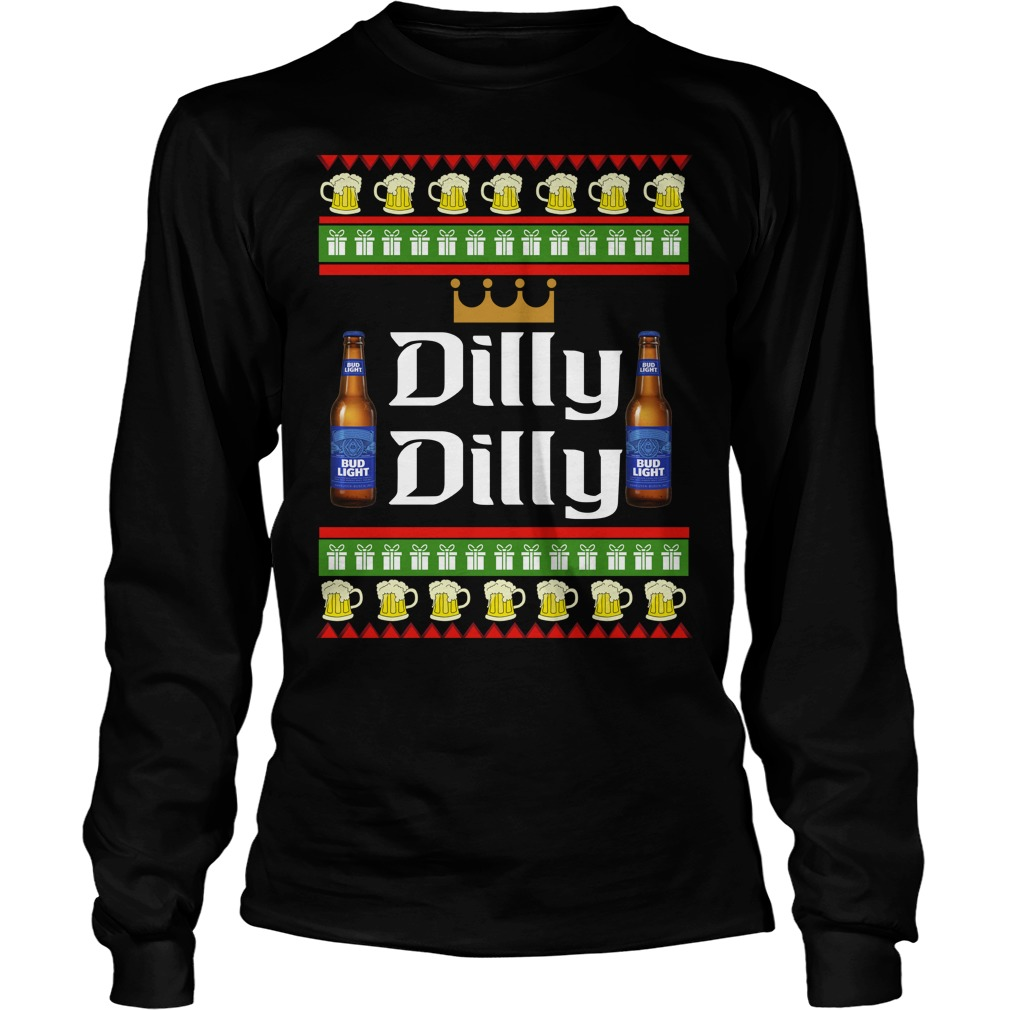 Official Dilly Dilly Bud light Beer ugly christmas LongSleeve