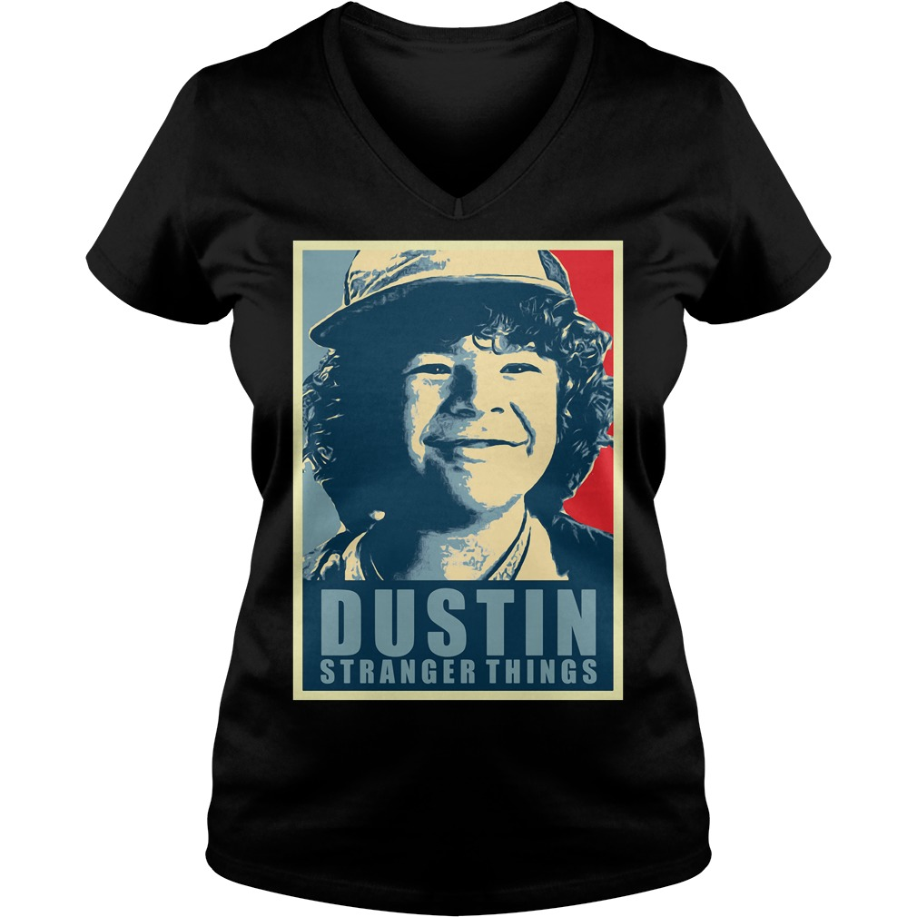 Dustin Stranger Things V-neck t-shirt