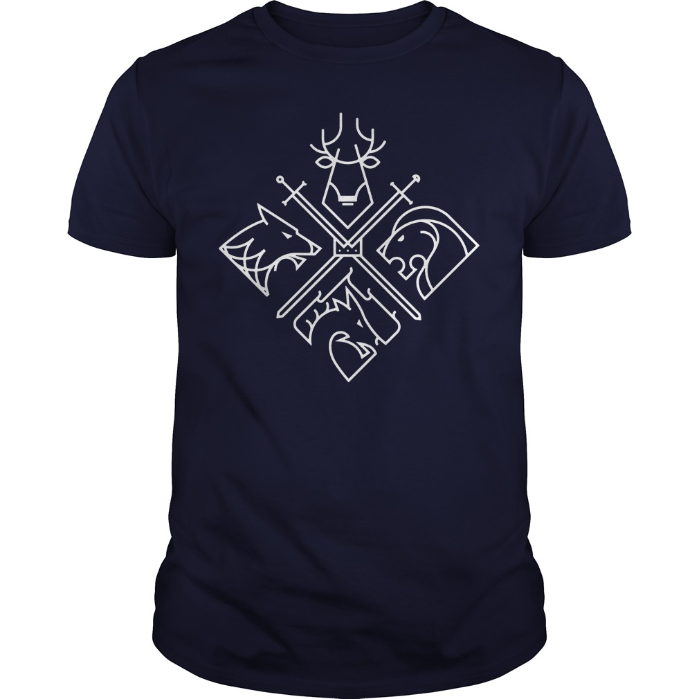 Game of Thrones Houses shirt