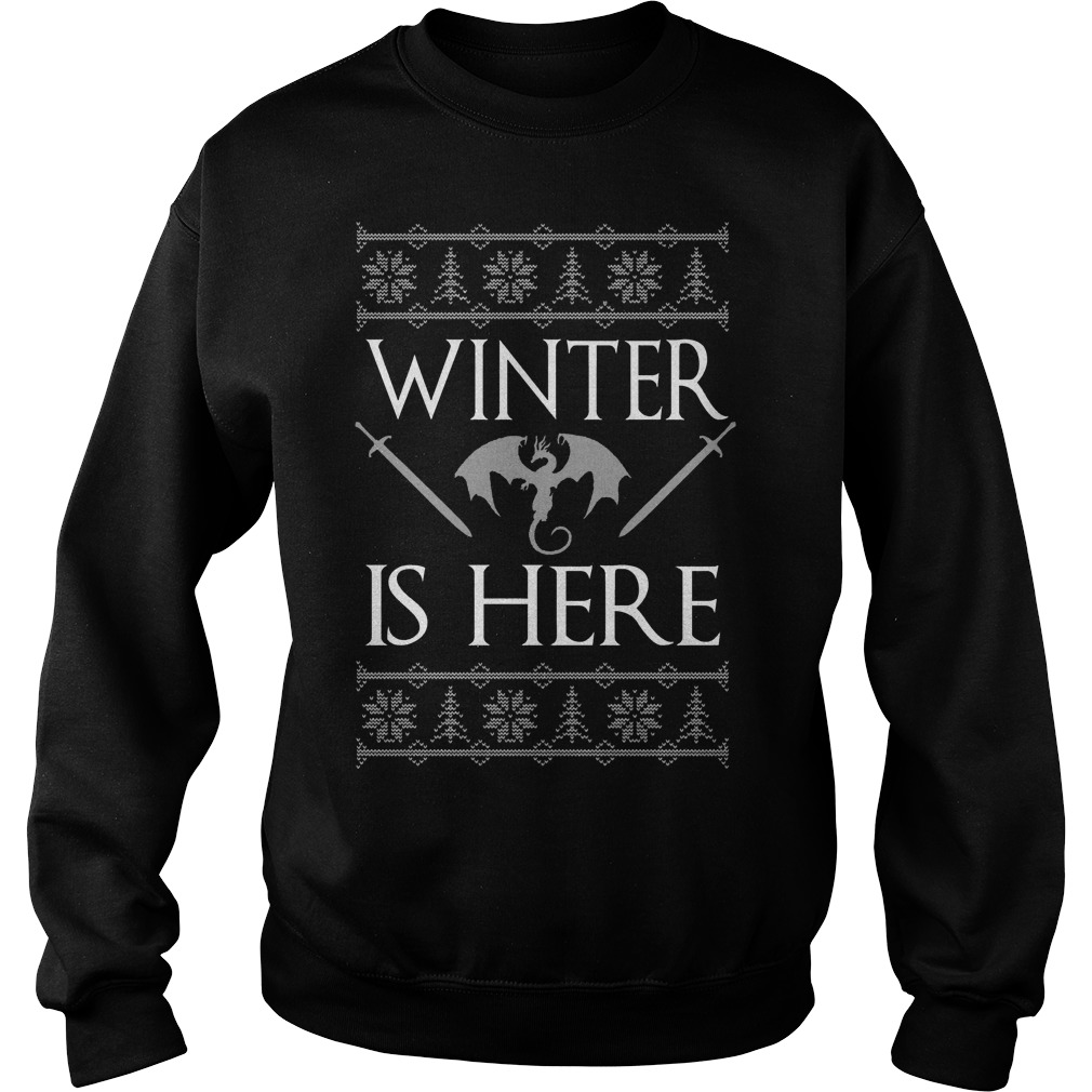 Game of Thrones winter is here ugly Christmas Sweater