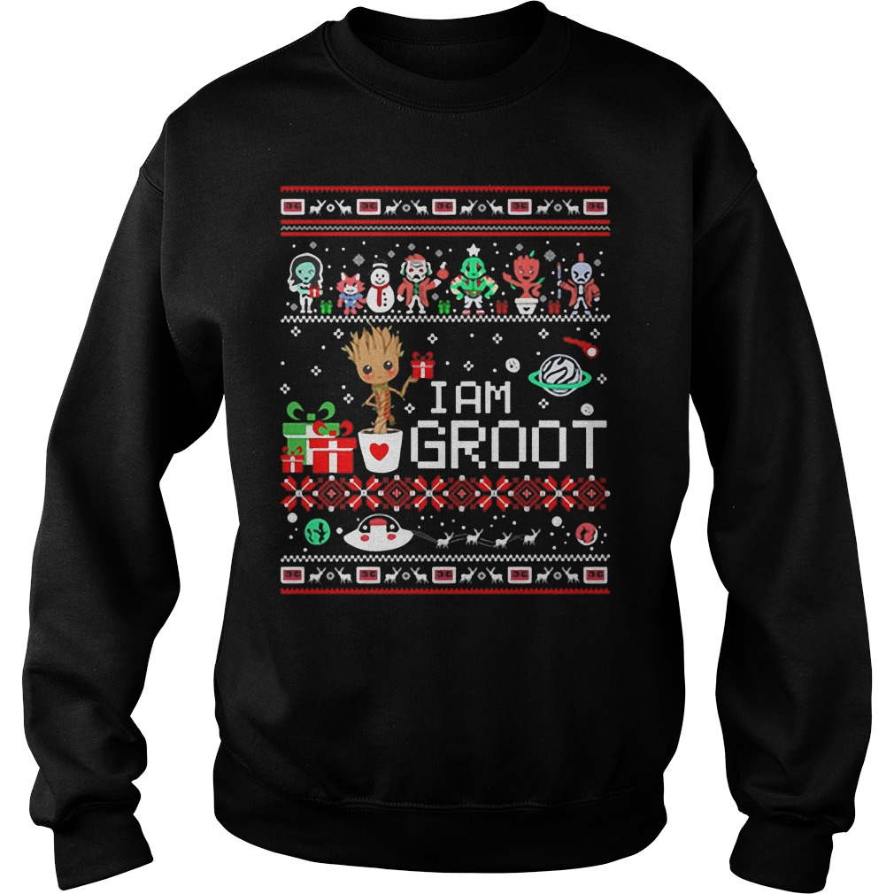 I am Groot ugly christmas sweater