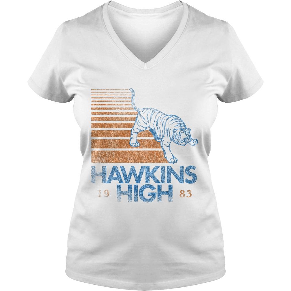 Hawkins High Stranger Things V-neck t-shirt