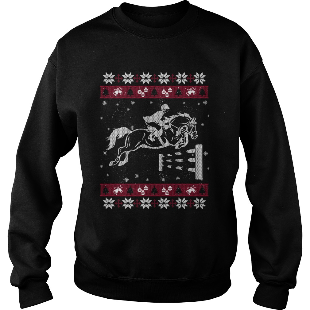 Horse racing ugly Christmas sweater
