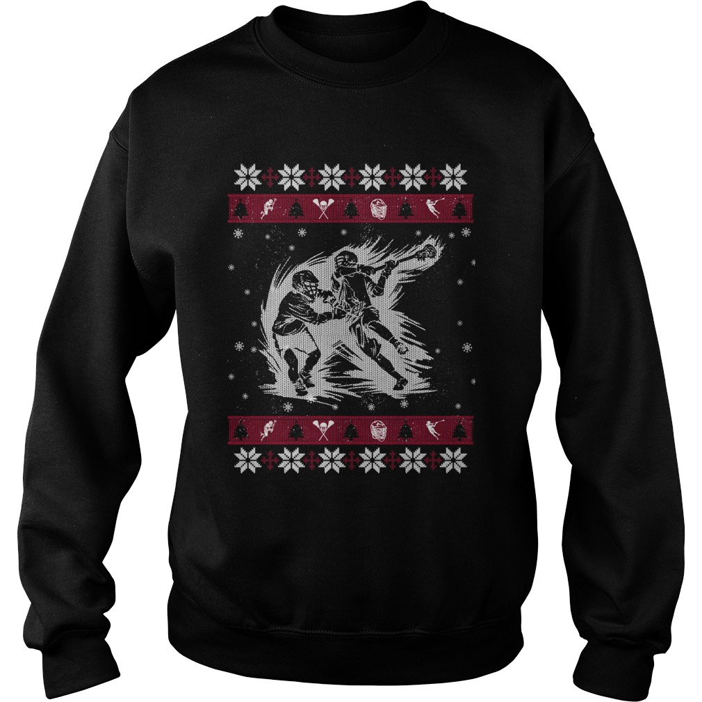 Lacrosse ugly Christmas sweater