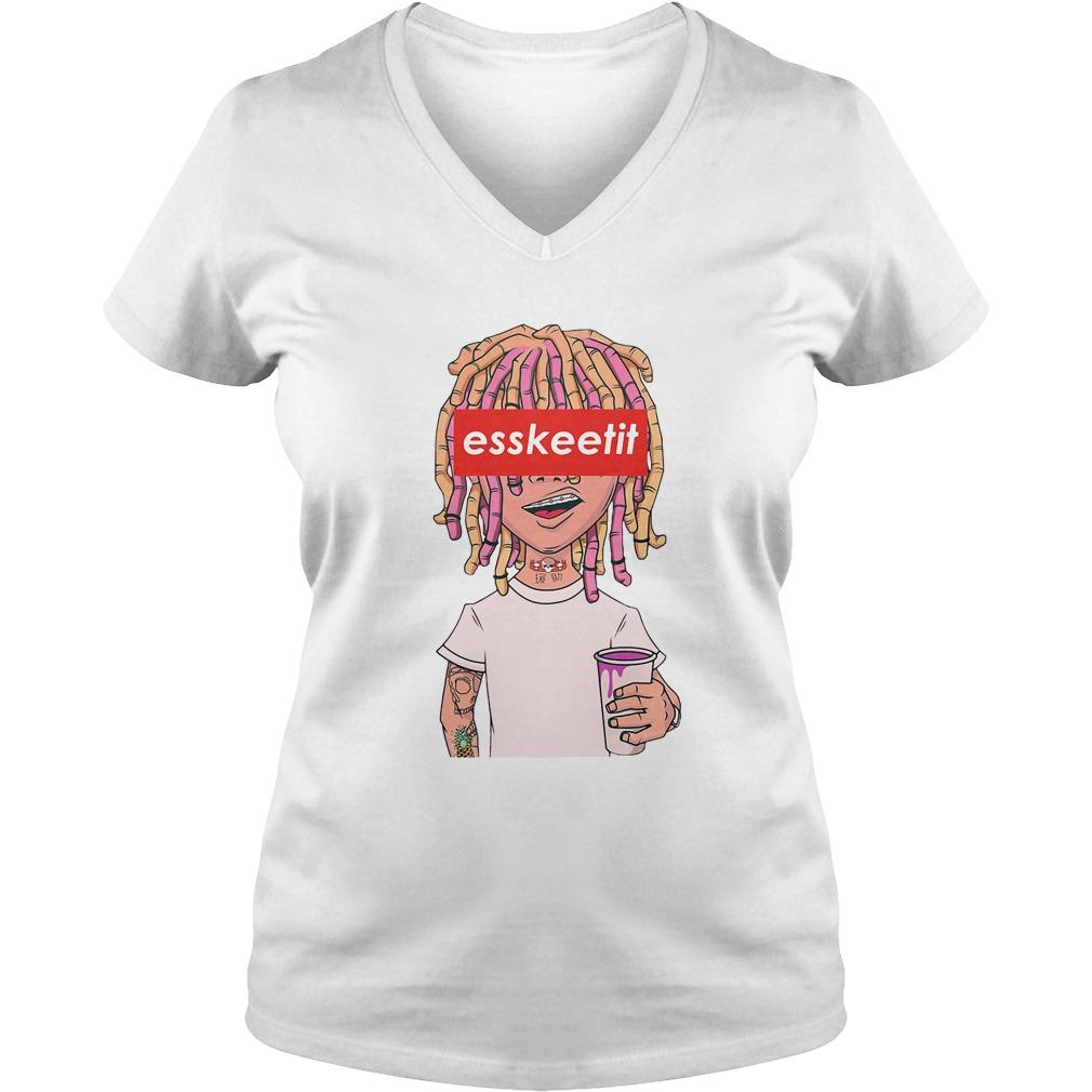 Lil Pump - Eskeetit box logo V-neck t-shirt