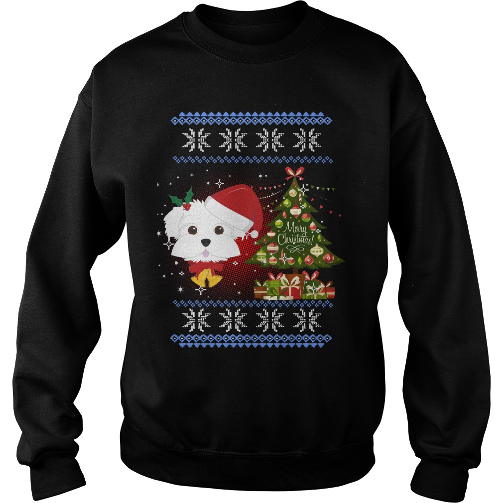 Maltese ugly Christmas sweater