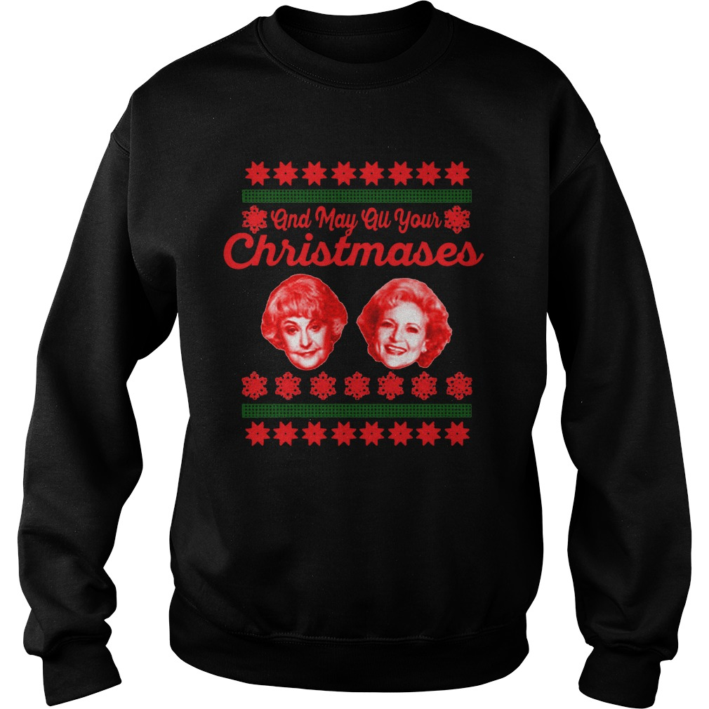 May all your Christmases Bea White ugly Sweater