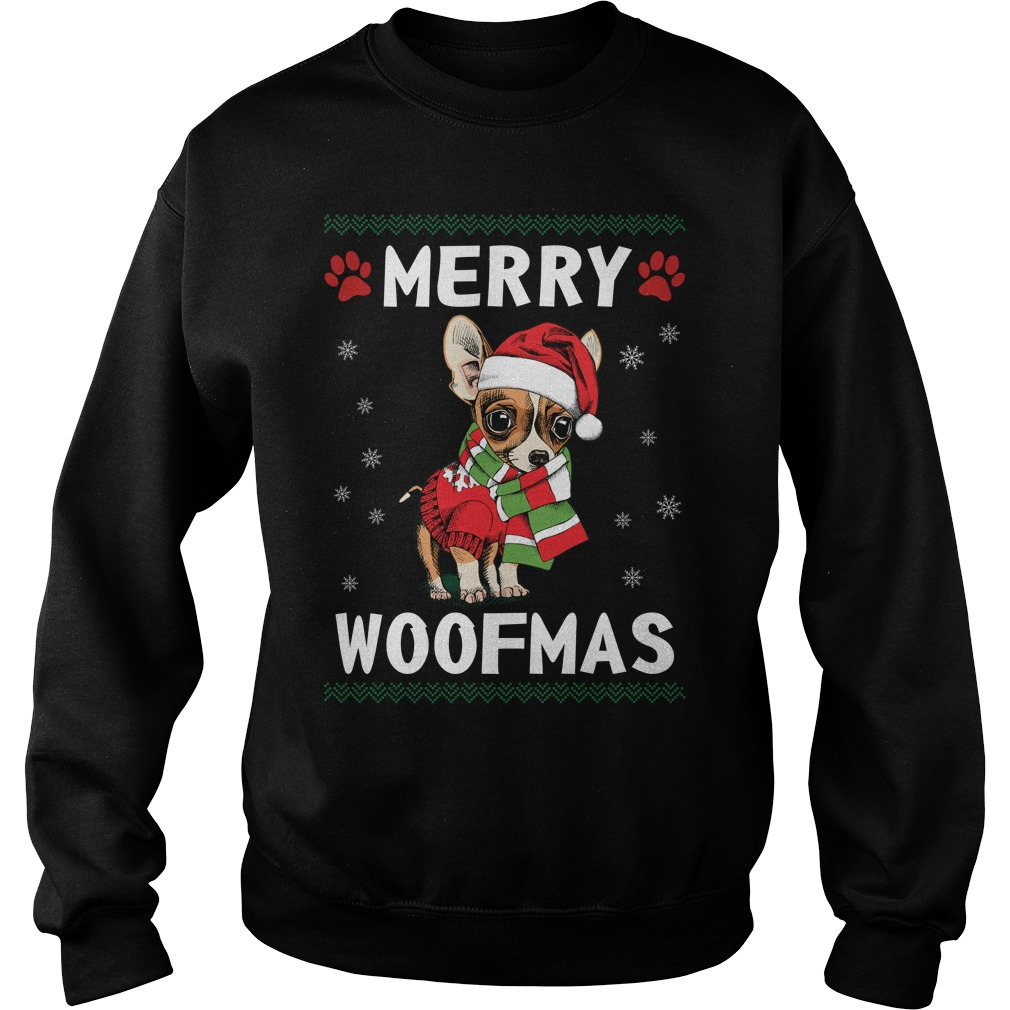 Merry Chihuahua woofmas Santa Dog ugly christmas sweater