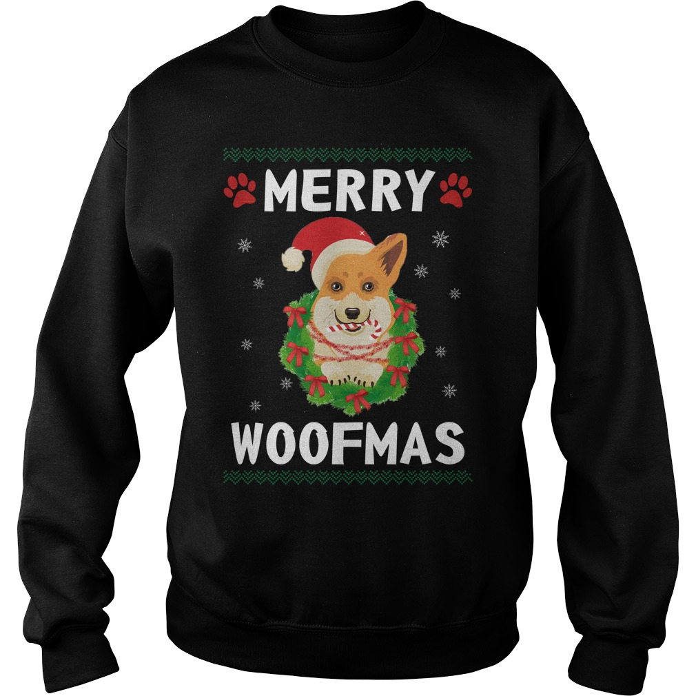 Merry Corgi woofmas Santa Dog ugly christmas sweater
