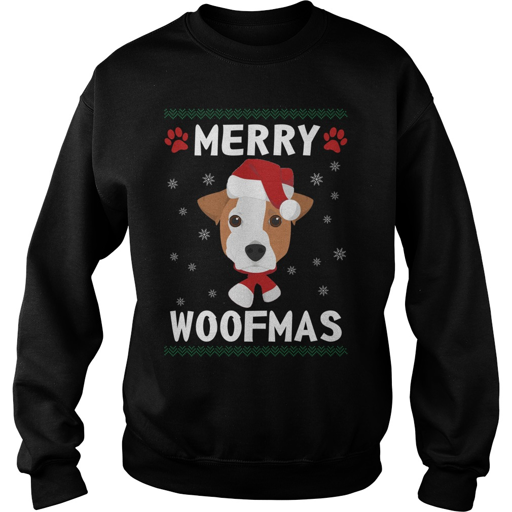 Merry Jack Russell Terrier woofmas Santa Dog ugly christmas sweater