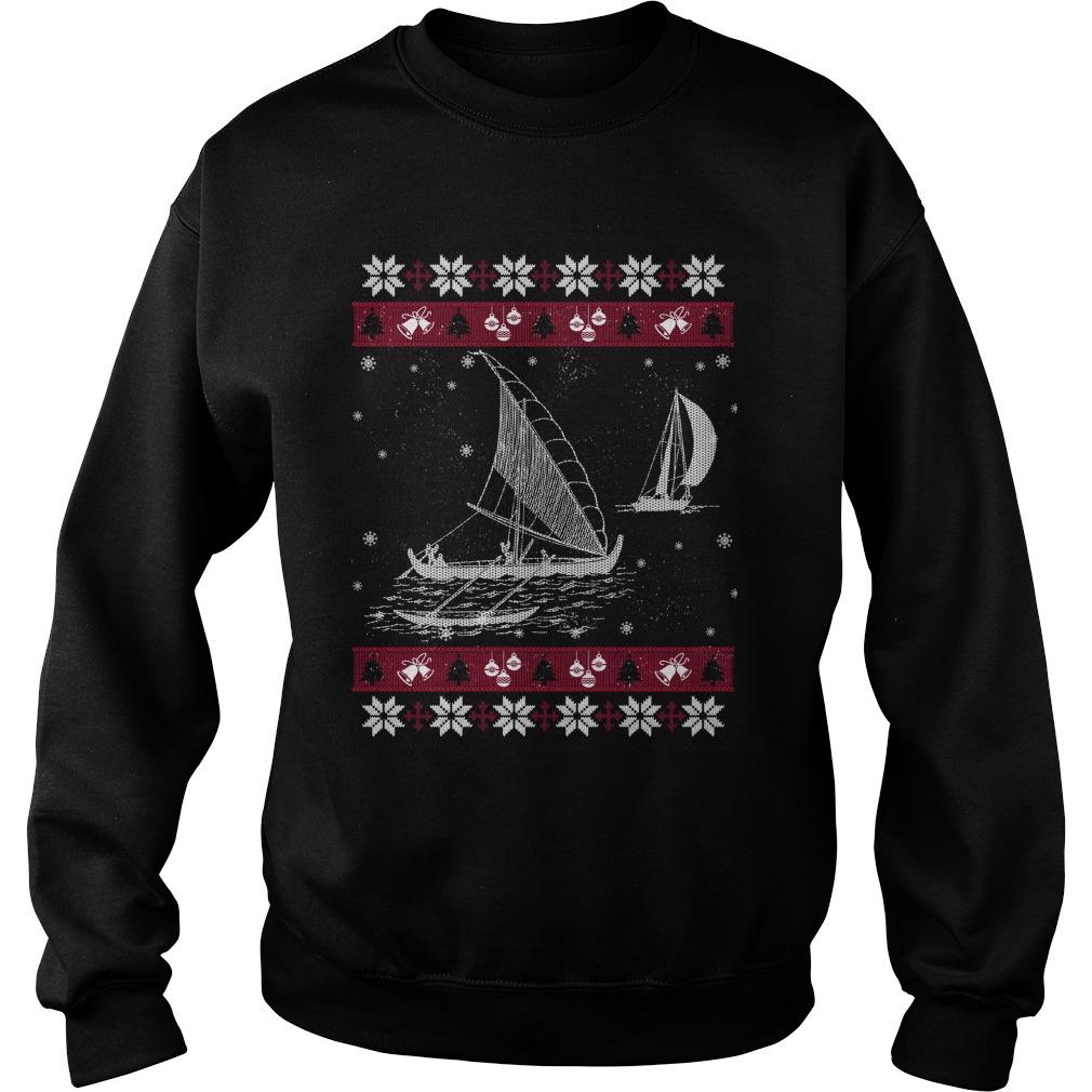 Sailing ugly Christmas sweater