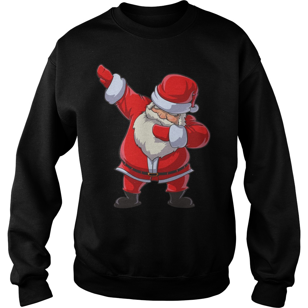 Santa Claus dabbing Christmas funny dab dance gifts sweater